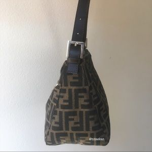 Fendi Bags - Authentic Fendi Zucca Double Flap Baguette